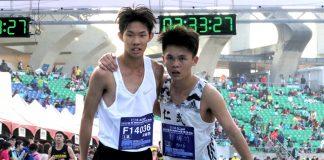 鄭瑞竹跟吳睿恩相互合作將高雄馬拉松國內冠軍留在高雄。