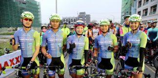 大會也特別邀請台灣自行車一姐黃亭茵及申騰美利達車隊四位年輕好手一同出席