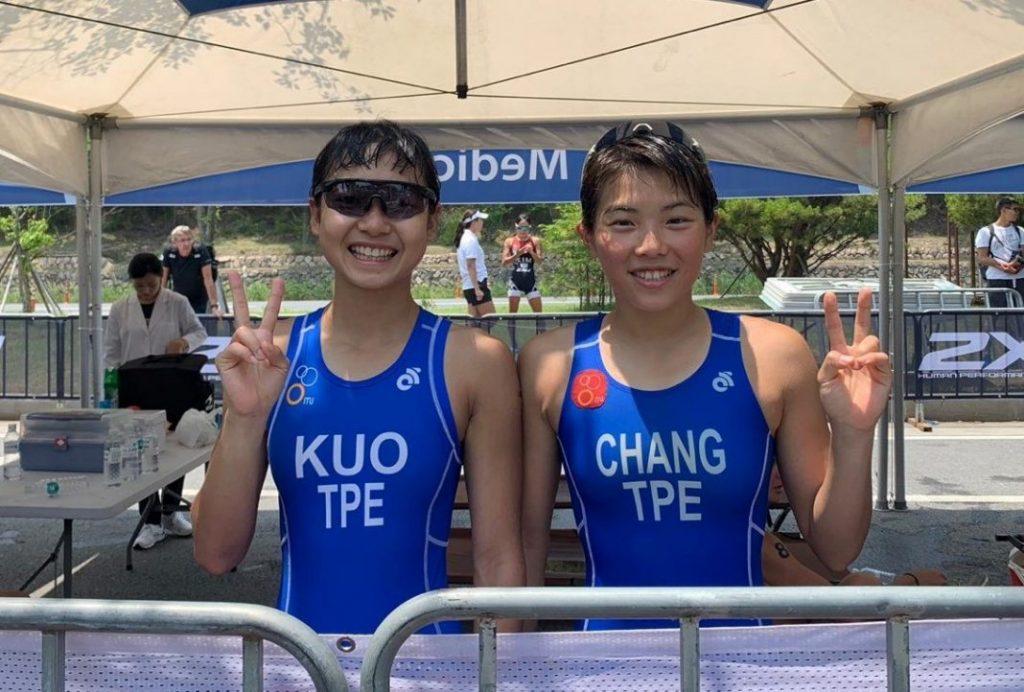 郭家齊(左)、張綺文(右),將在下周一起前進東京奧運測試賽。