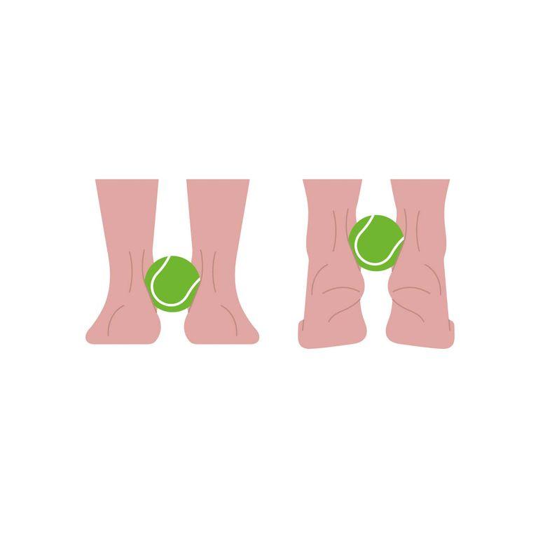 網球不能掉出來喔。