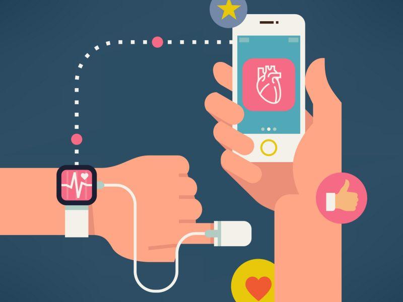 運動中利用穿戴式裝置監測心率可以運動得有效又安全。圖片來自網路。