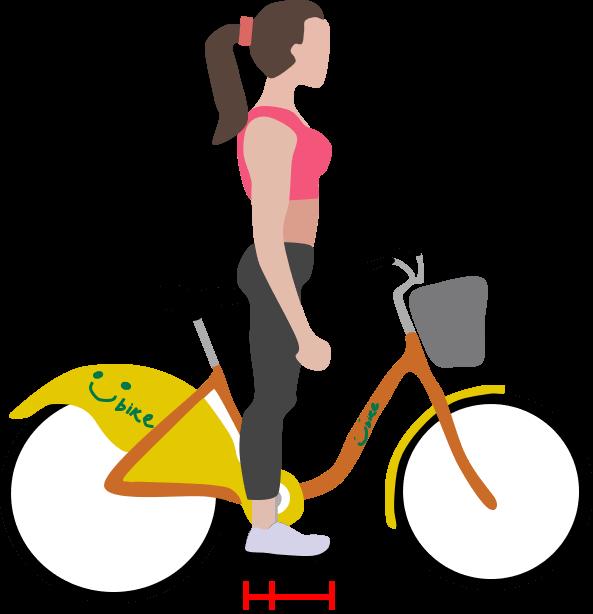 將足跟平整放在踏板上,並且膝蓋伸直