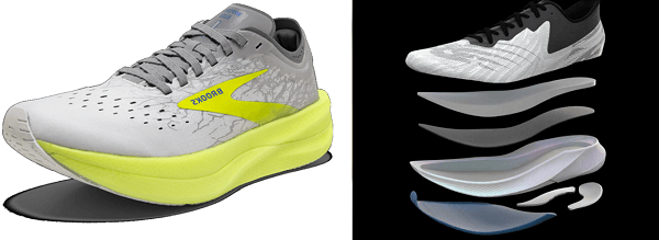 Brooks Hyperion Elite 2(左)、New Balance FuelCell TC(右) 圖片來源: Brook、New Balance官網
