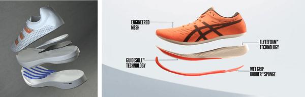 Adidas Adizero Adios Pro Running (左)、Asics Metaracer (右) 圖片來源: Adidas、Asice官網